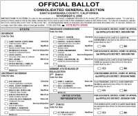 Optical Scan Ballot